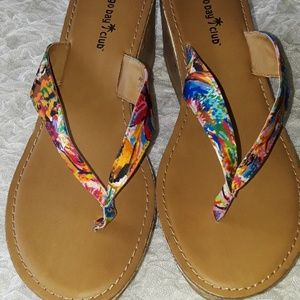 Montego Bay Club Wedge Thong Sandals